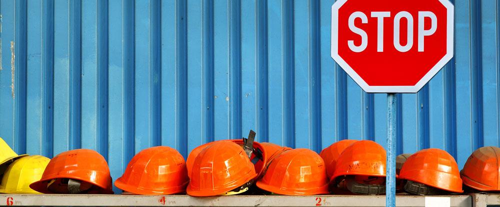 Caschi ed elmetti per lavoratori