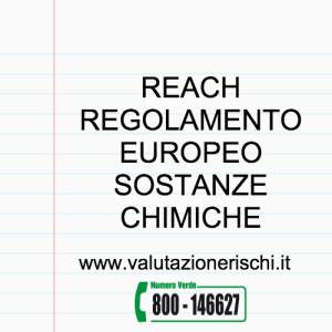 reach regolamento europeo sostanze chimiche